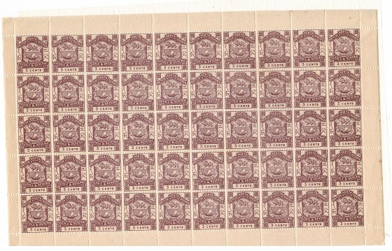 NORTH BORNEO - 1888 3c violet