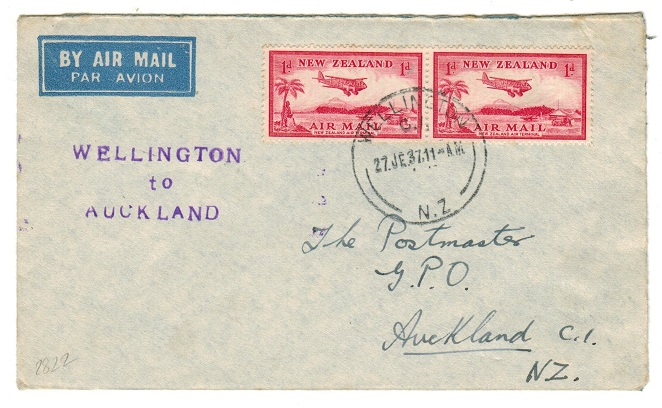 NEW ZEALAND - 1937 first flight cover.