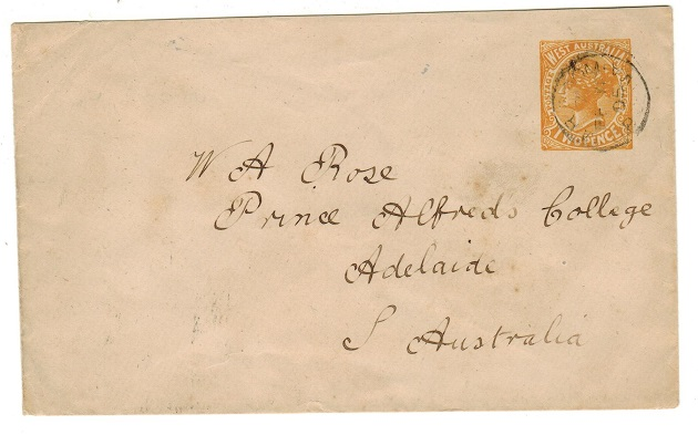 AUSTRALIA (Western Australia) - 1902 2d yellow PSE used locally at M.R.ROOM/GPO WA.  H&G 2a.