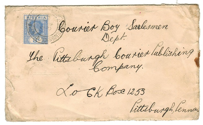 CAMEROONS - 1934 re-use of envelope to USA used at KUMBA.