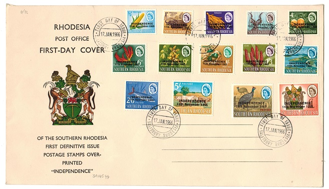 SOUTHERN RHODESIA - 1966 illustrated first day cover of