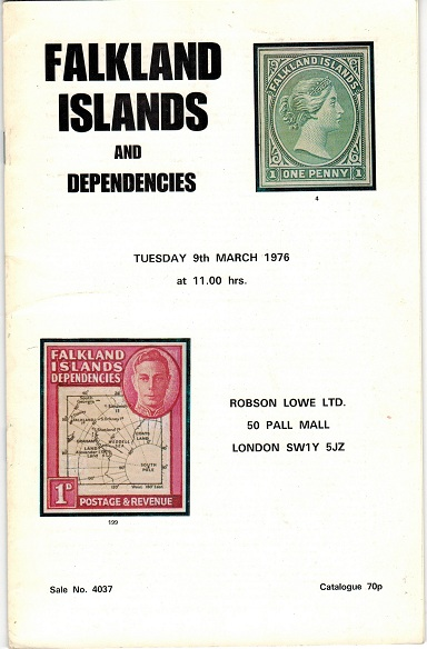 FALKLAND ISLANDS - Robson Lowe auction catalogue