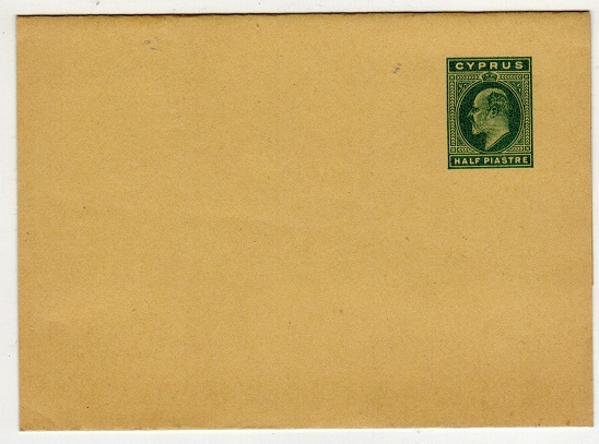 CYPRUS - 1902 1/2p green postal stationery wrapper unused.  H&G 6.