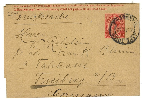 SOUTH AFRICA - 1913 1d red postal stationery wrapper used.  H&G 2.