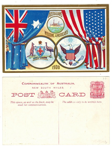 AUSTRALIA (New South Wales) - 1908 1d red