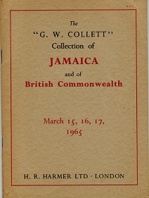 JAMAICA - Harmers auction catalogue