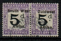SOUTH WEST AFRICA - 1924 5d black and violet