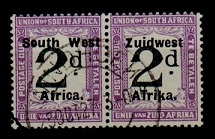 SOUTH WEST AFRICA - 1924 2d black and violet