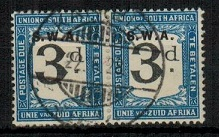 SOUTH WEST AFRICA - 1928-29 3d black and blue
