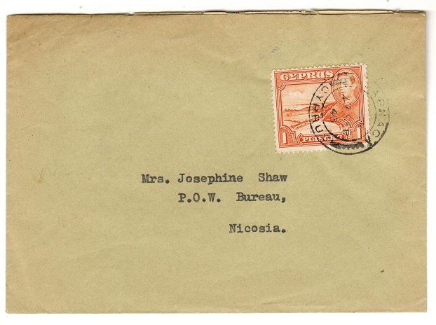 CYPRUS - 1943 cover to